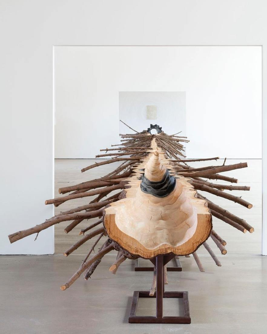 """Installation view with Giuseppe Penone, """"Matrice,"""" (2015), Yorkshire Sculpture Park, UK, May 26, 2018–April 28, 2019. Photo: © Jonty Wilde; courtesy Yorkshire Sculpture Park"""