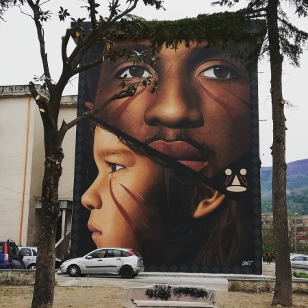 Jorit Agoch @Palma Campania, Italy