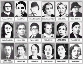 Le prime deputate donne elette al parlamento turco, febbraio1935