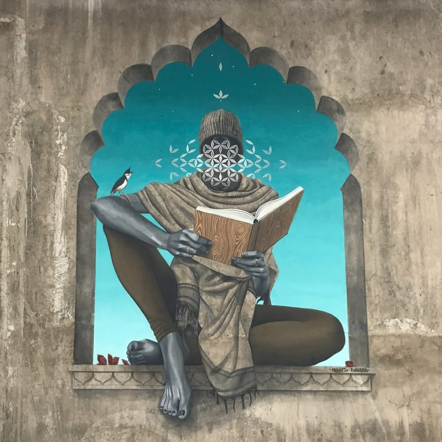 Streetart – Miles Toland @ Lucknow, India