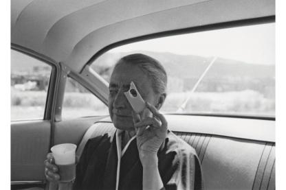 "Tony Vaccaro, ""Georgia O'Keeffe, Taos Pueblo, New Mexico,"" 1960. Photo courtesy Michael A. Vaccaro Studio"