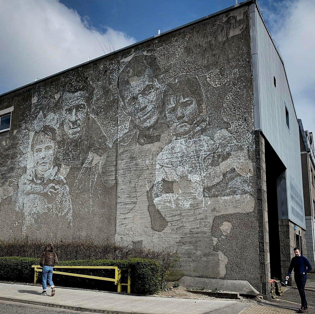 Streetart – Vhils @ Aberdeen, UK