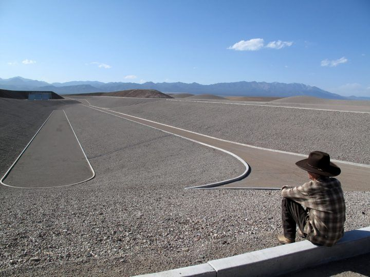 Michael Heizer at the site of 'City'   Image © Michael Govan