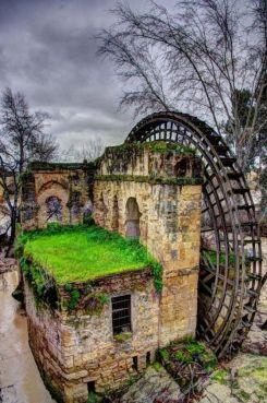 Mulino ad acqua abbandonato a Cordoba, Spagna