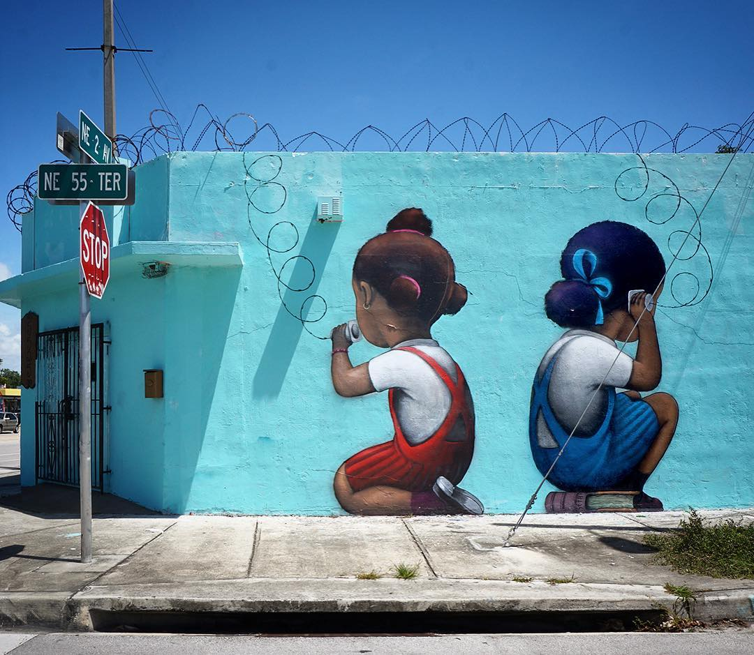 """Telefòn"" by Seth Globepainter @Miami, Fl, USA"