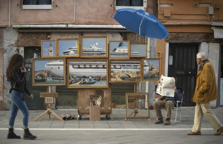 Venice in Oil by Banksy @ Venice Biennale, Italy