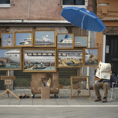 Venice in Oil by Banksy @ Venice Biennale, Italy