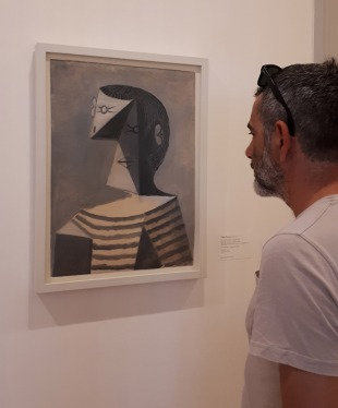 """""""Buste d'homme en tricot rayé"""" (1939) by Pablo Picasso @ Collezione Peggy Guggenheim, Venezia"""