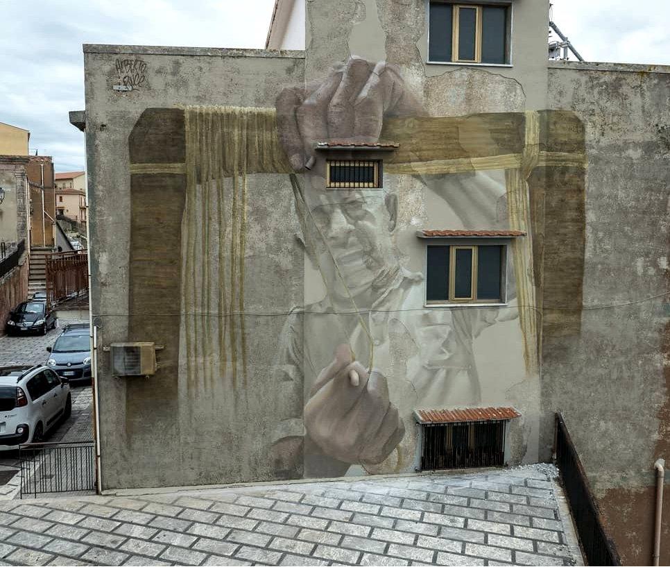 Streetart – Alberto Ruce @ San Marco d'Alunzio, Italy