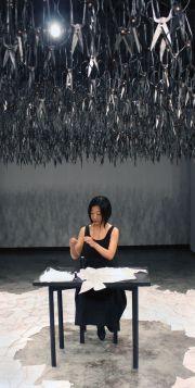 Beili Liu, performance, The mending project