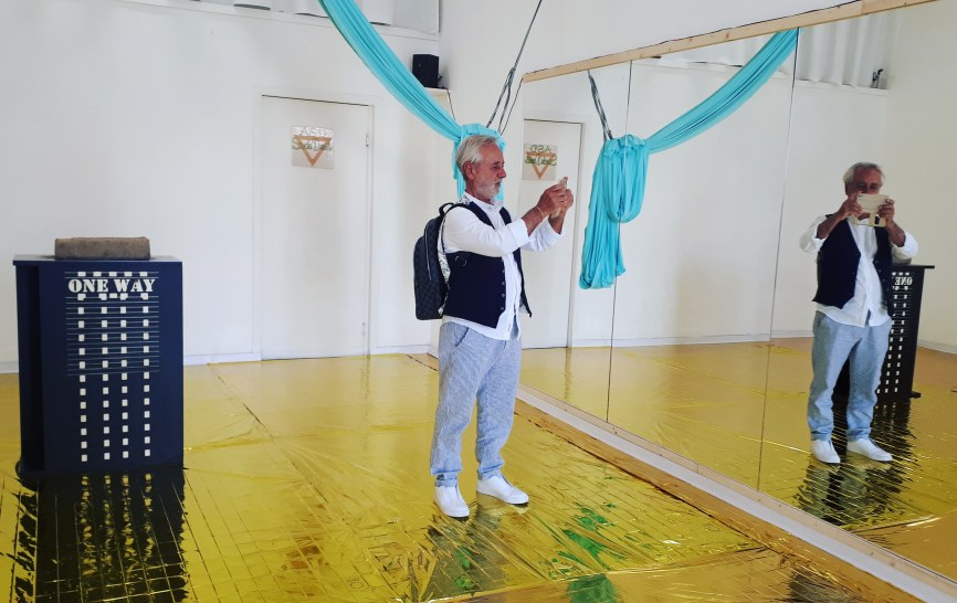 Festival Sant'Arte a San Sperate - Installazione per il progetto One Way di Leonardo Boscani e Rita Delogu