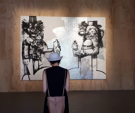 Double Elvis (2019) by George Condo