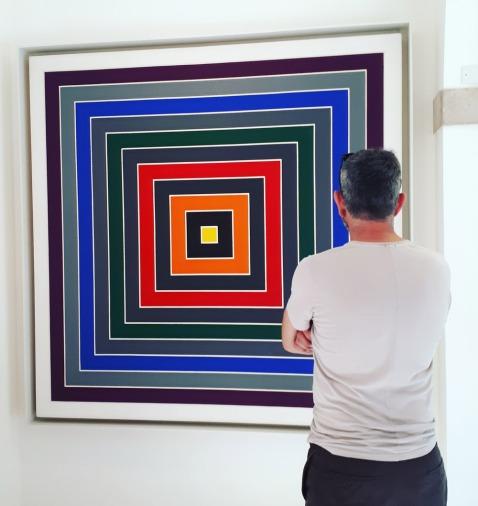 """""""Gray Scramble"""" (1968-69) by Frank Stella @ Collezione Peggy Guggenheim, Venezia"""