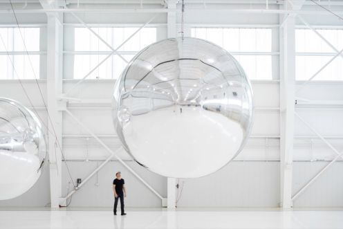 Trevor Paglen, Orbital Reflector (early prototype, 2017–19)