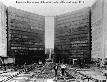 12 luglio 1920, apertura ufficiale del Canale di Panama da parte di Woodrow Wilson; sebbene fosse usato dal 15 agosto 1914