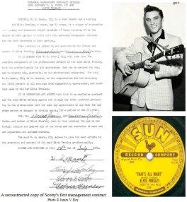 12 luglio 1954. Elvis Presley firma il suo primo contratto discografico con la Sun Records