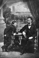 Abraham Lincoln con suo figlio Thomas, 1860