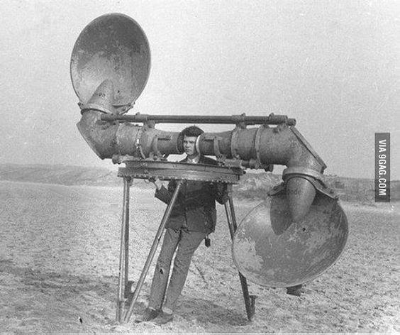 Prima del radar elettronico, device di ascolto acustico, 1900-1940