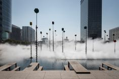 Fujiko Nakaya, Fog Sculpture, Les Extatiques, Paris, 2019. Photography by Carlos Ayesta