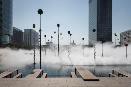 Fujiko Nakaya, Fog Sculpture, Les Extatiques, Paris, 2019. Photography by Carlos Ayesta