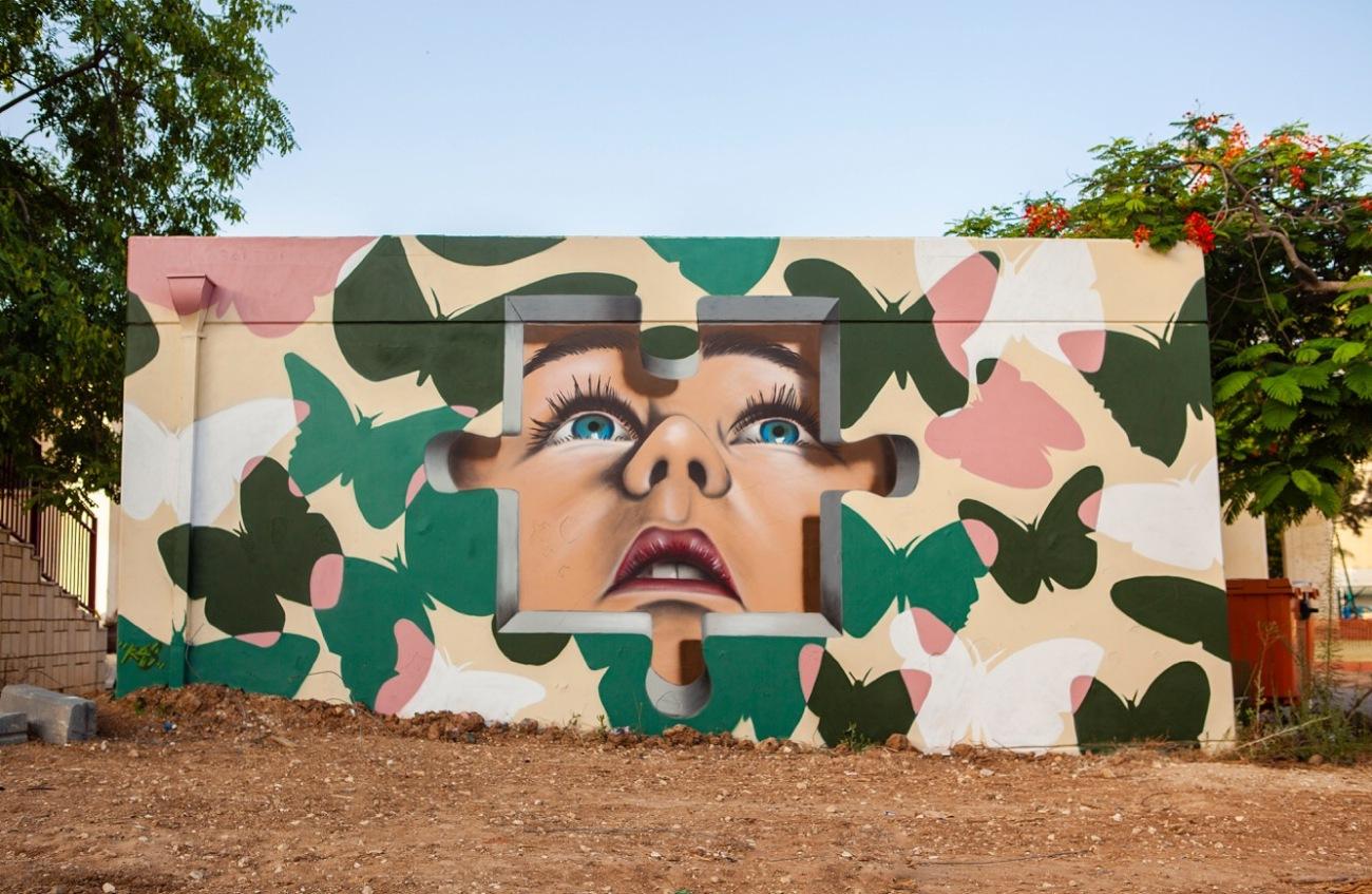 """""""Hope"""" by Kas Art @ Sderot, Israel"""