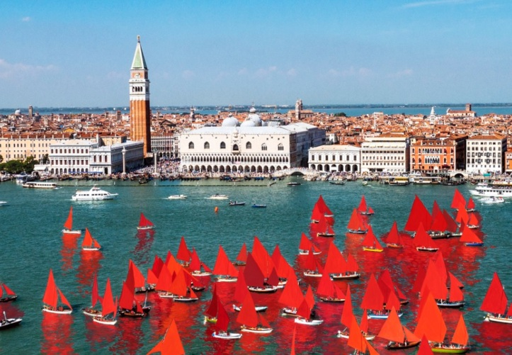 """Red Regatta"" by Melissa McGill @ Biennale Arte 2019"