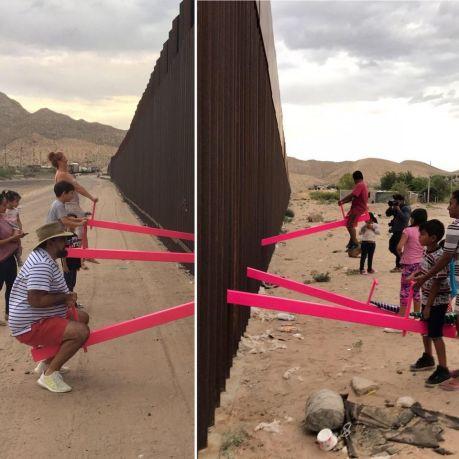 Ronald Rael e Virginia San Fratello @ US-Mexico border