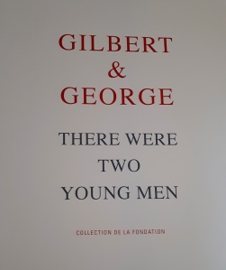 """""""There Were Two Young Men"""" (1971) by Gilbert And George @ Foundation Louis Vuitton, Paris"""