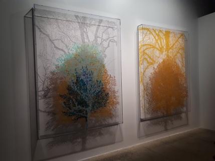 """""""Tree #5"""" by Charles Gaines @ """"Nous les arbres"""", Fondation Cartier, Paris"""