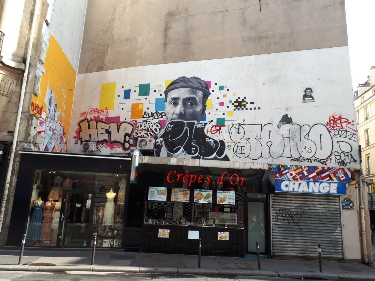 Street art in Saint-Germain-des-Prés