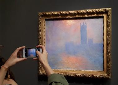 """""""Londres, le Parlement de soleil dans le brouillard"""" by Claude Monet @ Musée d'Orsay"""