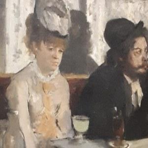 """""""Dans un café"""" by Edgar Degas (Detail) @ Musée d'Orsay"""