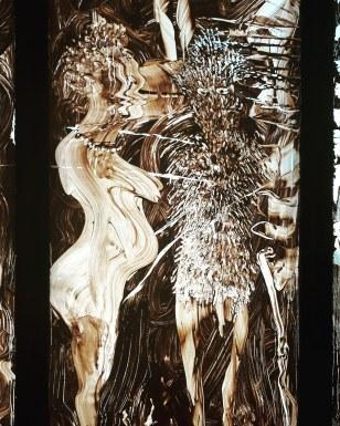 """Mique lBarcelò (pittura su vetro, 2019) & Louise Bourgeois (scultura) @ """"Prehistoire. Une enigme moderne"""""""