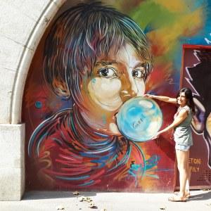 Street art by C215