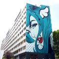 Street art by D Face
