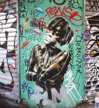 Street art in Rambuteau, Paris