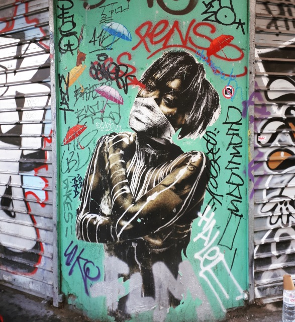 Street art in Rambuteau, Paris