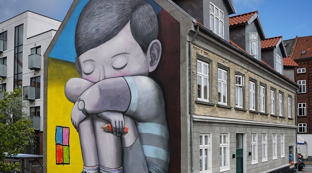 """Jack in the box"" by Seth Globepainter @ Aalborg, Denmark"