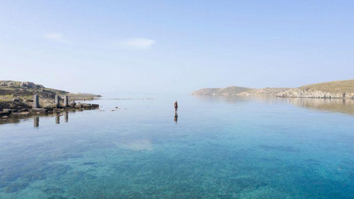 6 Times Left (2009) by Antony Gormley @ Sight exhibition on Delos