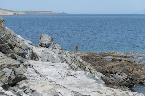 Another Time XIV (2011) by Antony Gormley @ Sight exhibition on Delos
