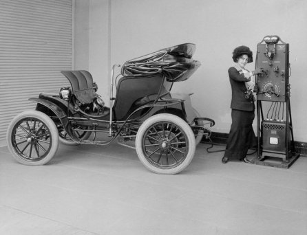 Auto elettrica, 1912