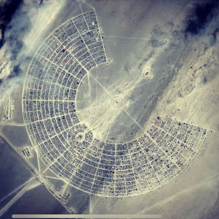 Burning Man 2019 as seen from space