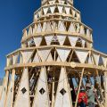 Burning Man 2019. Mega Cake by Thom White and a Piece of Cake Productions