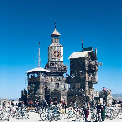 Burning Man 2019. The Folly by Dave Keane and the Folly Builders