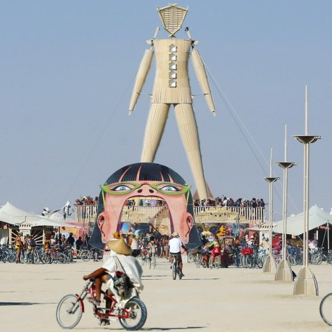 Burning Man 2019. The Man by David Best