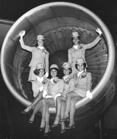 Classe di hostess Pan Am Airlines a Miami, gennaio 1967