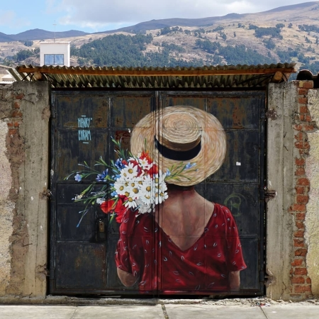 Streetart - Henry Chram @ Huaraz, Peru