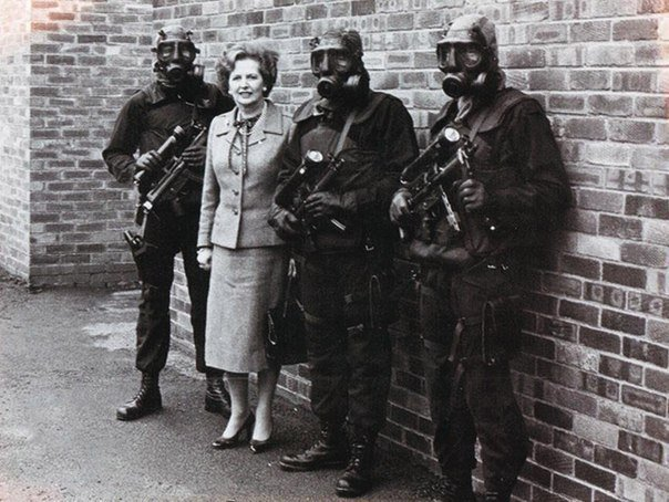 Margaret Thatcher e soldati SAS
