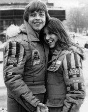Mark Hamill e Carrie Fisher. anni '80