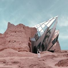 Mohammad Hassan Forouzanfar - Daniel Libeskind's Royal Ontario Museum extension over Rostam Castle